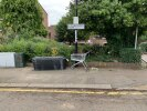 AGAIN flytipping on the corner of slaithwaite road and clarendon rise