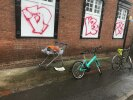 Shopping cart ditched on Boulter Street