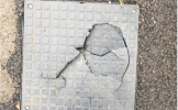 Damaged drain cover