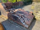 Wall collapsed blocking pathway
