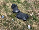 3 black bags of rubbish dumped at roadside
