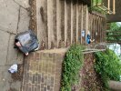 Household waste been dumped on steps at Sefton Road