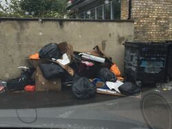 Fly tipping - rats seen amongst rubbish, 10th May
