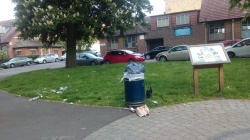 Rubbish scattered across play area, 16th May