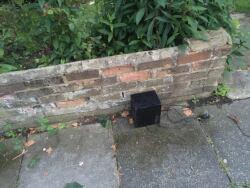 Speaker dumped on pavement, 17th June
