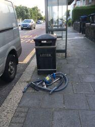 Vacuum cleaner dumped by bin, 22nd July