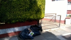 2 black bags have been dumped, 12th August