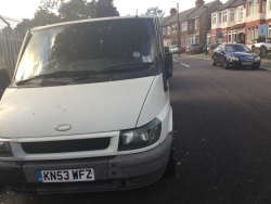 The council STILL have not removed the two abandoned and dumped vans that have been there for two months., 10th October