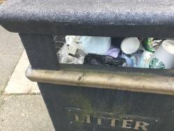 Enfield council do not empty public bins, 24th October
